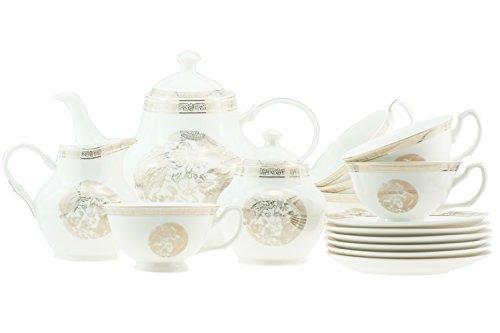 15Stück Luxus Bone China Oriental Dragon und Phoenix mit Gold Rand Tee/Kaffee-Set für 6Personen Phoenix Bone China