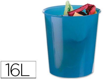 Q-Connect 943531Papierkorb Kunststoff robust 16L 310x 290mm transparent blau