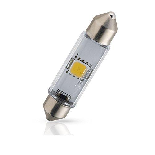 Philips 129454000KX1 Luce X-Treme Vision Led Per L'Abitacolo, 43 mm, 4000K, 12V, Confezione Singola