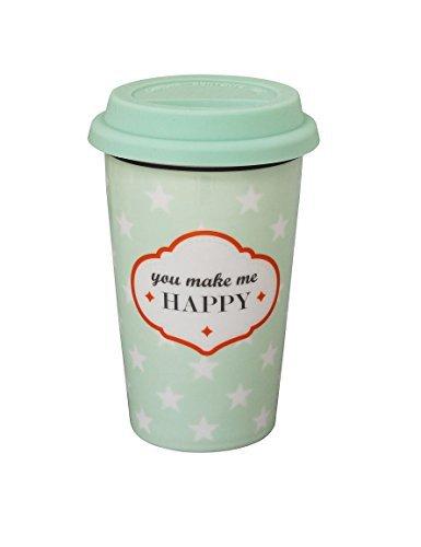 Krasilnikoff Travel Mug, You Make me Happy 340 ml [W]