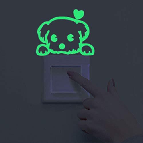 SAOJI 2 Juegos de Dibujos Animados 3D Etiqueta de Interruptor de la habitación de los niños luz Nocturna Andrómeda Gato Etiqueta de la Pared decoración en la Pared, 16