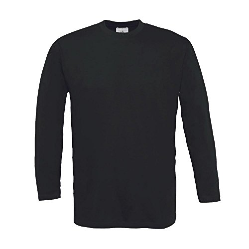 B&C - Langarm T-Shirt 'Exact 150 LS' / Black, 3XL 3XL,Black