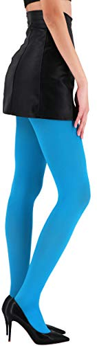 CozyWow Blickdicht Damen Strumpfhose Elastisch Semi Stützstrumpfhose in 13 Farben (Blau, S) - 2