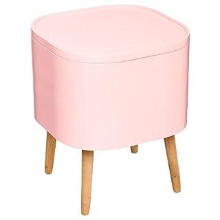 ATMOSPHERA 2 in 1: Beistelltisch + Kiste mit Stauraum – skandinavischer Stil – Farbe Altrosa