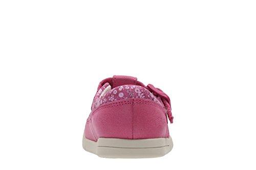 Clarks Verrückte Geschichte Fst Mädchen erste Schuhe in Hot Pink und Navy Rose