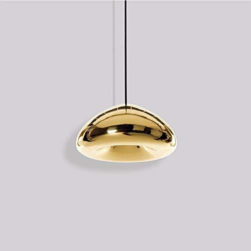 Kreative Single Head Chrom Rose Gold Mirror Ball Pendelleuchte Globe Hängeleuchte Kronleuchter Metall Runde Lampenschirm Glas Deckenleuchte (Farbe: Silber-Durchmesser: 30cm / 11.81in)