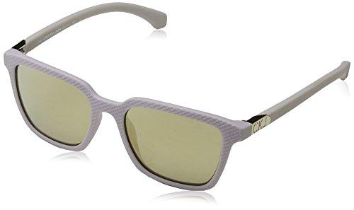 Calvin Klein Jeans Damen Eye Sonnenbrille, Weiß (Bianco), 51