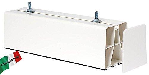 BASE A PAVIMENTO BIANCA BIESTRUSA + TAPPI 1000 MM 4 PZ, per installazione condizionatore climatizzatore