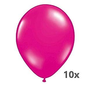 Folat 08187 Magenta - Globos (30 cm, 10 unidades), color rosa