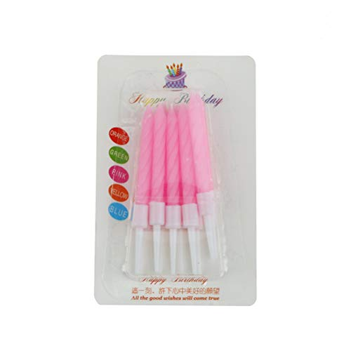 (Heater Wax - 10pcs Lot Candles Crystal Thread Wedding Decoration Velas Pink Candle Art Birthday 8 0.5cm - Core Decor Thread Heater Pink Pillar Hand Raffia Necklace Funny Brother Skeleton Paraffin)