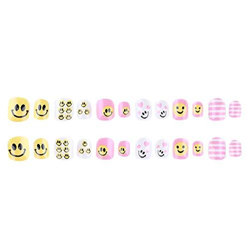 Berrose Tragen Sie Nail Art Piece Abnehmbare Wear Patch Kinder gefälschte Nägel tragbare Rüstung Damen Tragen Sie Nail Art Piece Abnehmbare ()