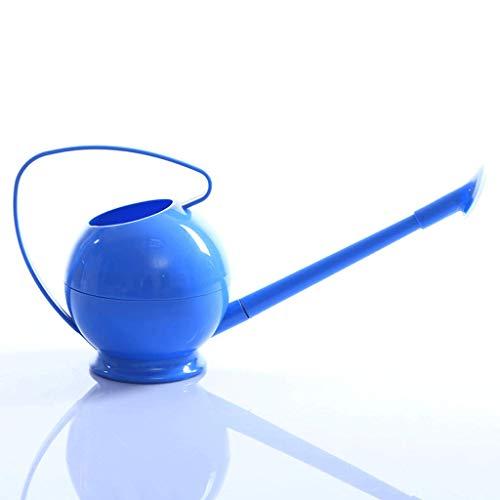 Gießkannen Candy-farbige Runde Gießkanne Kleine Bewässerung Blume Reinigung Gießkanne A+ (Farbe : Blau)
