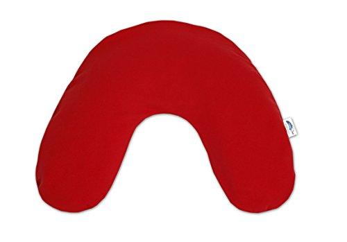 Preisvergleich Produktbild Theraline 04012402 Nackenkissen inklusive Bezug, klein 85 x 19 cm, jersey rot