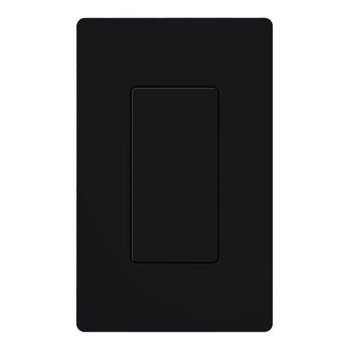 Lutron dv-bi-bl Diva blanko, Einsatz schwarz, schwarz (Wall Decora Blank Plate)