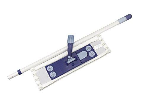 Limpando 3er Wischer Set für Bodenreinigung | mit stabilem Magnet-Klapphalter, Wischbezug und Praktischem Teleskopstiel | Mopp-Klapphalter Auch für Einfaches Bodentuch