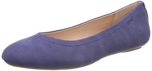 ESPRIT Damen Alya Ballerina Geschlossene Ballerinas, Blau (Ink 415), 38 EU