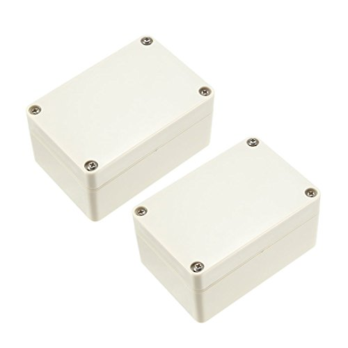 ZCHXD 2pcs 100x68x50mm Electronic Waterproof IP65 Sealed ABS Plastic DIY Junction Box Enclosure Case Gray -