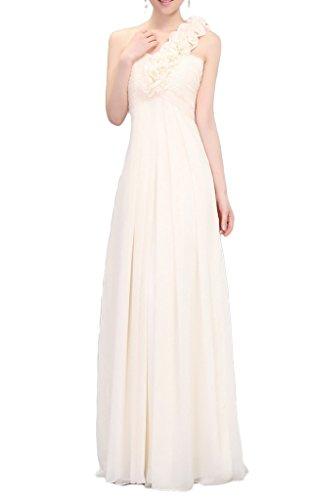 Eyekepper Robe longue femmes / mademoiselle - Genre une epaule belle qualite - Robe de Soiree Fete party mariage Beige