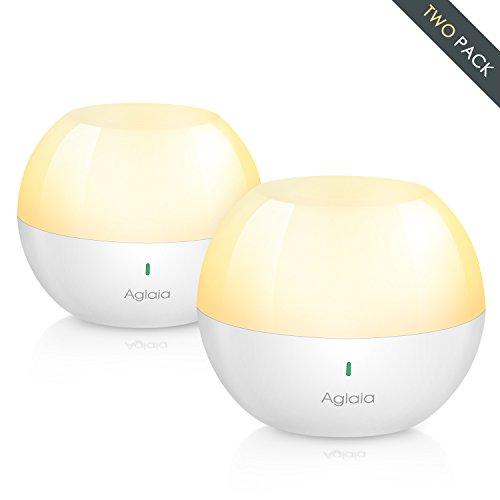 Nachtlicht Kind, LED Baby Nachtlicht, Aglaia Touch Lampe mit IP65 Wasserdicht USB Aufladbar Schlummerleuchte Farbwechsel Stimmungslicht für Babyzimmer, Schlafzimmer, Wohnräume, Camping, Picknick