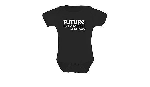 Future coiffeur Baby Grow Drôle Cadeau Nouveauté Humour Anniversaire coiffeur