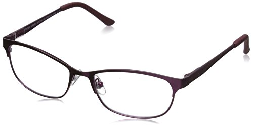Foster Grant Women's Shira 1015694-175.COM Oval Readers, Satin Berry, 52 mm