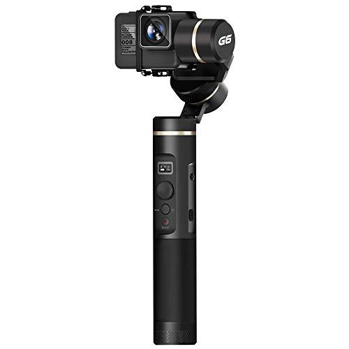 """FeiYu-Tech G6stabilisateur Manuel pour caméra Noir–stabilisateurs de Video (stabilisateur Manuel pour appareils Photo, Noir, 1/4"""", 320°, 0–360°, 0–360°)"""
