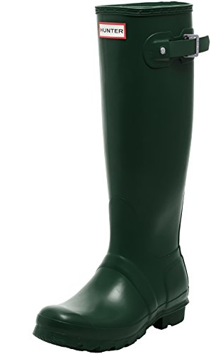 Hunter WOMENS ORG TALL, Damen Gummistiefel, Green (Hunter Green), 37 EU