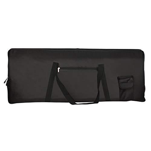 Teydhao 1 Stücke Tragbare 76-Tasten-Tastatur E-Piano Gepolsterte Tasche Gig Bag Oxford Cloth Keyboardtasche, Schaumstoffpolsterung, Reiß- und Wasserfest