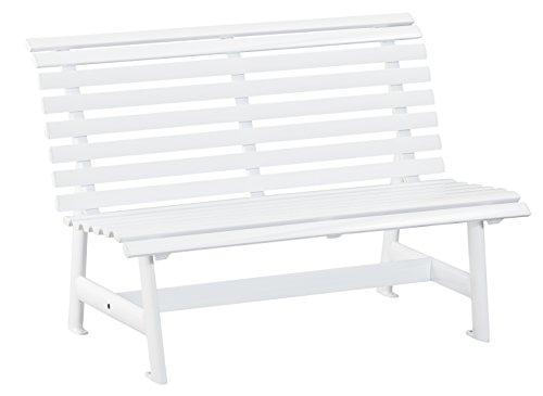 Kettler Advantage Gartenbank – tolle 2er-Sitzbank Garten – Balkon-Bank aus Aluminium – wetterfest, UV-beständig & pflegeleicht – weiß