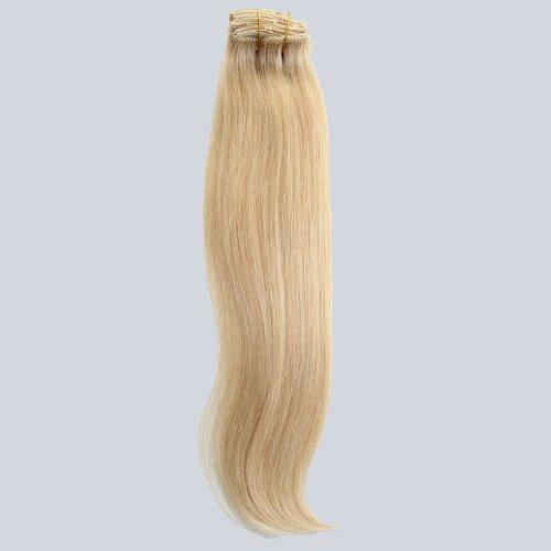 GoGoDiva Clip in Hair Extensions 100% Human Remy Hair #613 Bleach Blonde colour 15 inches Length 90 grams hair weight
