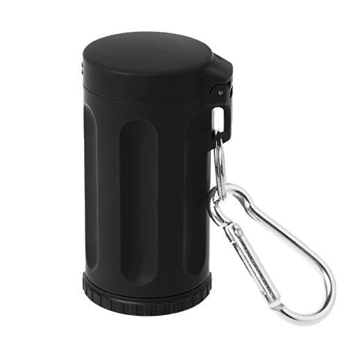 Yanhonin Taschen-Aschenbecher, tragbar, für Tabak, Outdoor, Key-Chain S Schwarz
