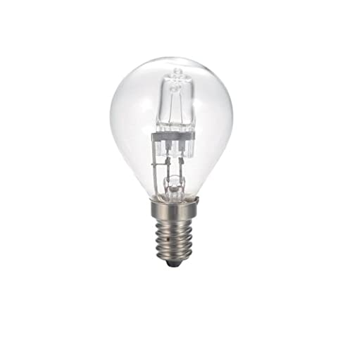 Bulk Hardware BH05267 Eco-Halogen Energy Saving Dimmable Golf Ball Bulb (Twin Pack) 28W SES, Glass, Clear, E14, 28 Watts, Pack of 2