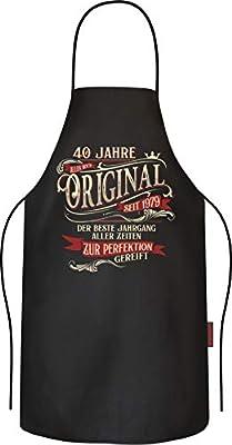 RAHMENLOS Grillschürze Kochschürze Küchenschürze als Geschenk zum 40. Geburtstag