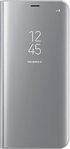 Samsung EF-ZG955CSEGWW Clear View Standing Hülle (geeignet für Galaxy S8+) silber