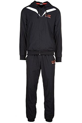 Emporio Armani EA7 tuta uomo fashion completo felpa pantaloni nero EU M (UK 38) 3YPV01 PN36Z 1200