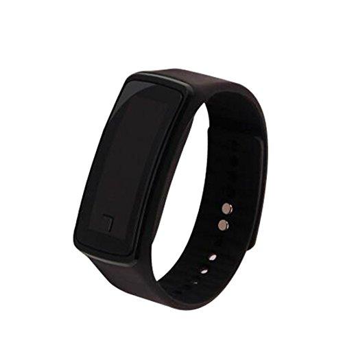 Fashion Sports LED Electronic Bracelet Watch Wristwatch Lovers Watch Unisex Black