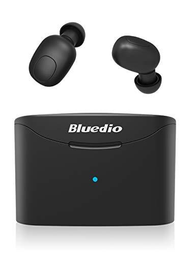 Bluedio T-Elf Auricolari Bluetooth 5.0 TWS Cuffie Bluetooth Mini Auricolari Sportivi Senza Fili Hi-Fi Stereo Wireless Cuffie in Ear con Mic per iOS e Android con Scatola Ricarica 650mAh Portatile