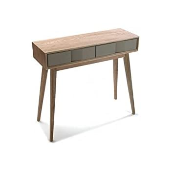 VERSA - Table d entrée console bois gris Versa Arvika  Amazon.fr ... 31f4e127c2b2
