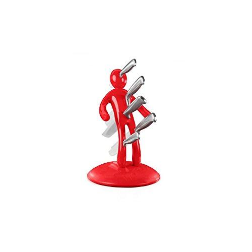 Tür Küchenmesser Set VuduKnifes + 5 Edelstahlmesser - Rouge
