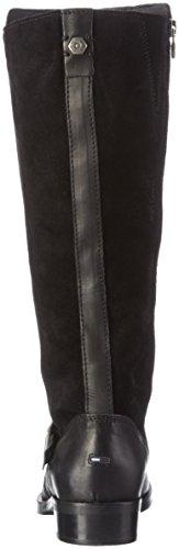 Hilfiger Denim A1385vive 16c, Bottes hautes avec doublure froide femme Noir - Noir (990)