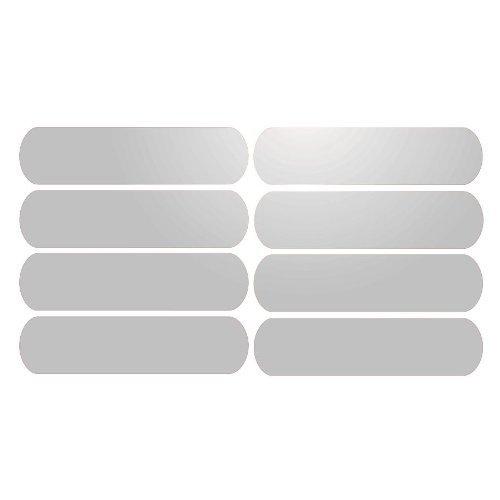 Bandas reflectantes 8 adhesivas para señalización, casco 8 x 2 cm. blanco reflectante