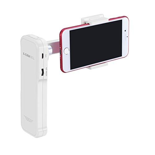 Galleria fotografica BlueBeach® Portatile 2 Assi Gimbal Stabilizzatore Cardanico Bluetooth Selfie Stick Monopiede per iOS & Android Smartphones
