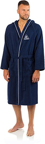 Cressi Swim Bathrobe Sport Bademantel, Blau, L