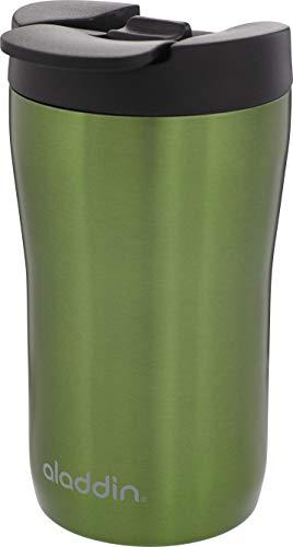 Aladdin Latte Leak-LockTM Edelstahl-Thermobecher, 0.25 Liter, Grün, 100% Auslaufsicher und verriegelbar, passt unter Vollautomat und Kapselmaschine