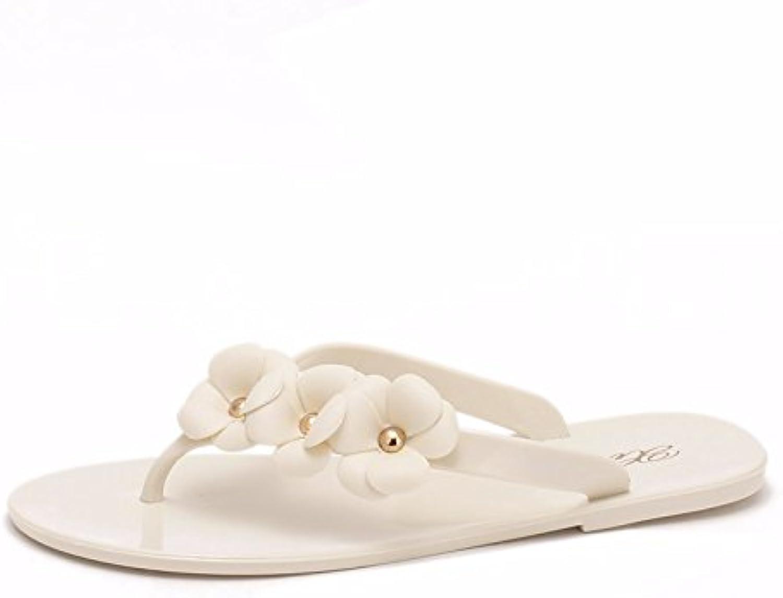 Verano zapatillas planas zapatos para mujeres, las flores, la versión coreana, Flip Flops, Fría, zapatillas, zapatillas...