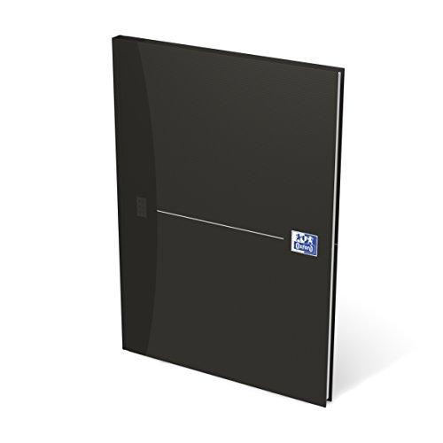 OXFORD 100104227 Gebundenes Buch Essentials A4 kariert 96 Blatt mit abtrennbaren Ecken schwarz