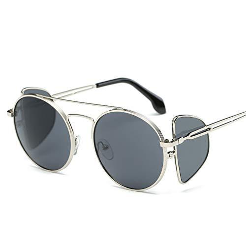 Wenkang Fashion Sunglasses 4 Lens Goggles Men Metal Wrap Round Eyeglasses Women Designer Shades Sun Glasses Uv400,2
