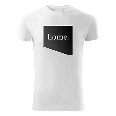 Modisches Herren Shirt Motiv Home bedruckt Tank Top Freizeit Outdoor mit Aufdruck (24-Replay-Weiß-S)