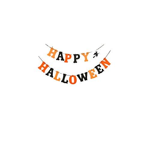 viving Kostüme viving costumes204484Happy Halloween Board (90x 15cm)/125x 15cm) (Happy Halloween Animal Costumes)