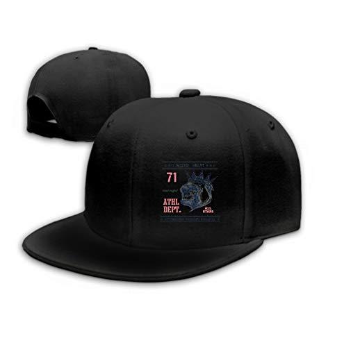 Unisex Baseball Cap Trucker Hat Adult Cowboy Hat Hip Hop Snapback Vintage urban Typography Gorilla Head Black